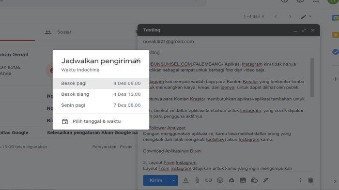 Cara Kirim Email Secara Otomatis