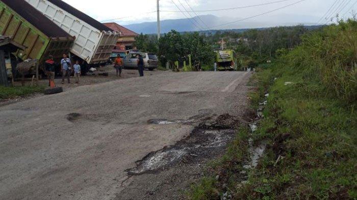 Belum Tiga Bulan Diresmikan Gubernur Sumsel, Jalan Lintas Lahat Kembali Rusak dan Berlubang