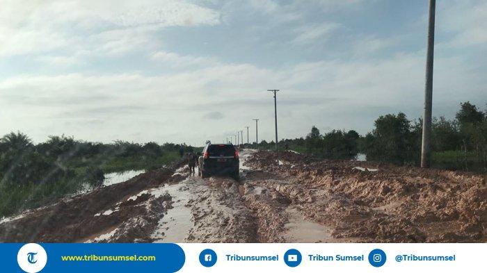 Jalan Rusak Parah di Ruas Kayuagung-Sepucuk Akan Segera Diperbaiki