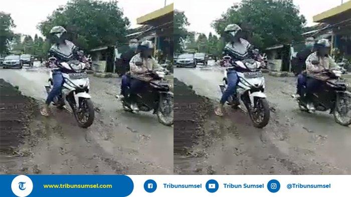 Warga Keluhkan Jalan Rusak Parah di Kota Kayuagung