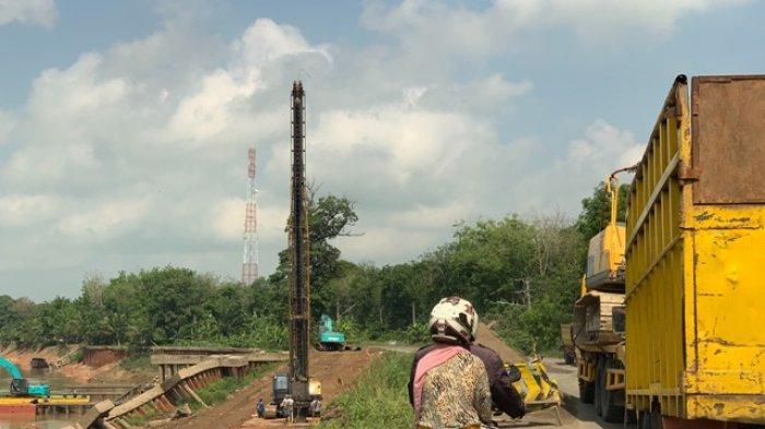 Jalinteng Desa Bailangu Timur Sekayu Menyempit karena Turap Amblas, Hanya Bisa Dilalui Satu Mobil