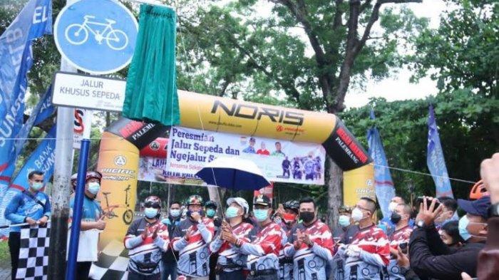 Palembang Kini Punya Jalur Khusus Sepeda, Hari Ini Dilaunching Wali Kota Harnojoyo