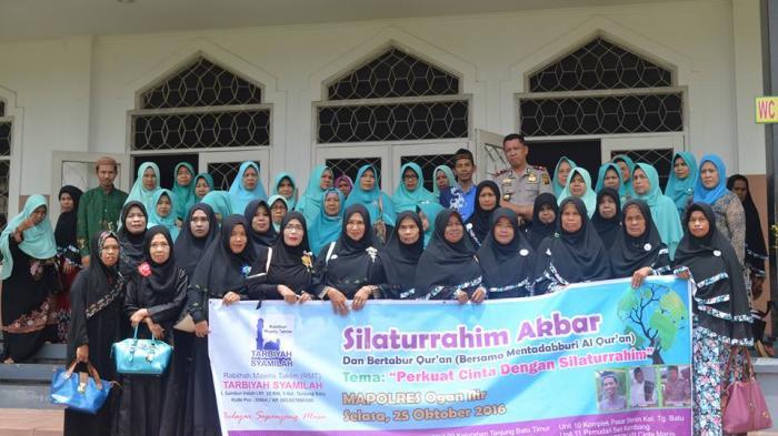 Pengajian Akbar Tarbiyah Syamilah Bersama Anggota Polres Ogan Ilir