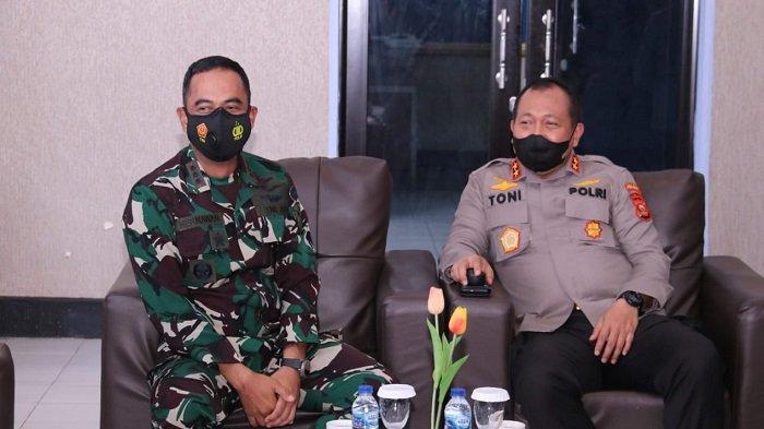 Sinergitas TNI-Polri, Kapolda Sumsel Silaturahmi dengan Danlanud Sri Mulyono Herlambang (SMH)