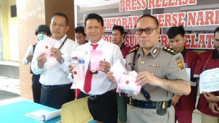 Polda Sumsel Tangkap 5 Orang Jaringan Peredaran Narkoba di Palembang, PALI dan Banyuasin