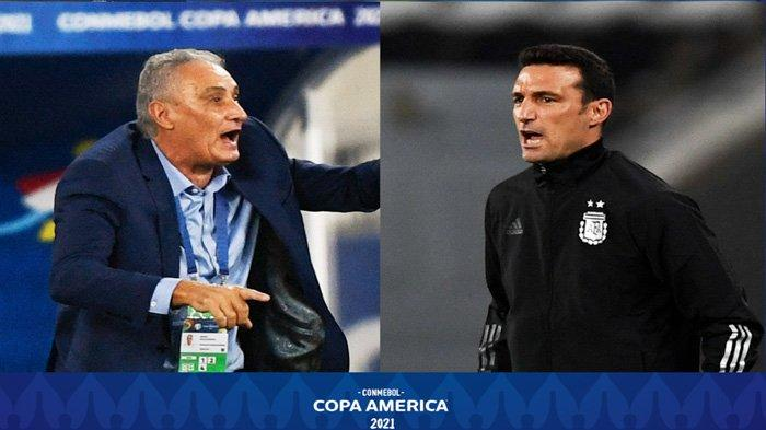 Final Copa America 2021 Brasil vs Argentina, ini Statistik Kedua Pelatih Tite dan Lionel Scaloni