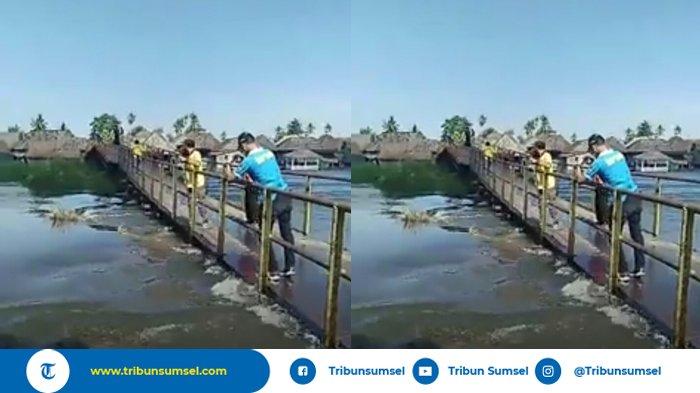 Debit Air Sungai Babatan Tinggi, Jembatan Cinta Jaya Pedamaran OKI Bikin Warga Khawatir