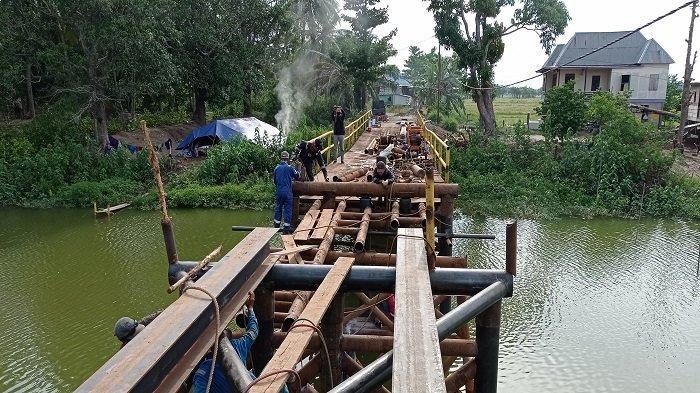 Jembatan Rapuh di Mayapati Ogan Ilir Diperbaiki, Akses ke Sejumlah Desa Terhambat