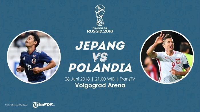Nonton Live Streaming Piala Dunia Jepang Vs Polandia di HP via Indosat, XL dan Telkomsel