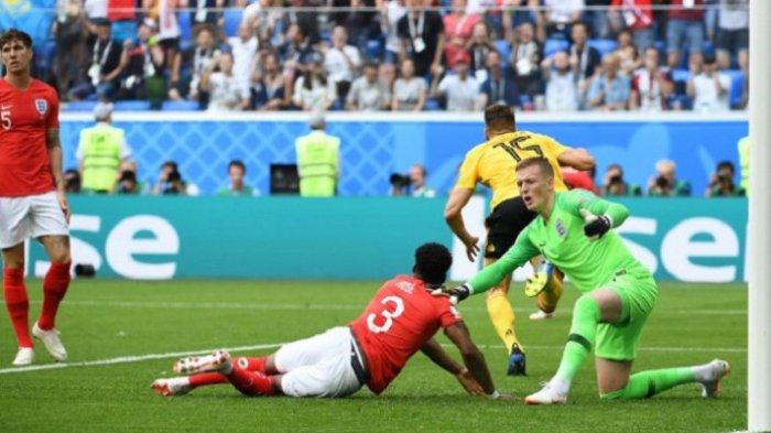 Babak 1 Belgia Vs Inggris Piala Dunia 2018 Rusia - Gol Cepat Meunier Bikin Tiga Singa Tertinggal