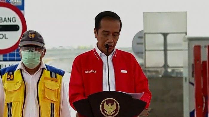 Resmikan Jalan Tol Kapal Betung di Palembang, Presiden Jokowi Titip Hal Ini Kepada Gubernur Sumsel