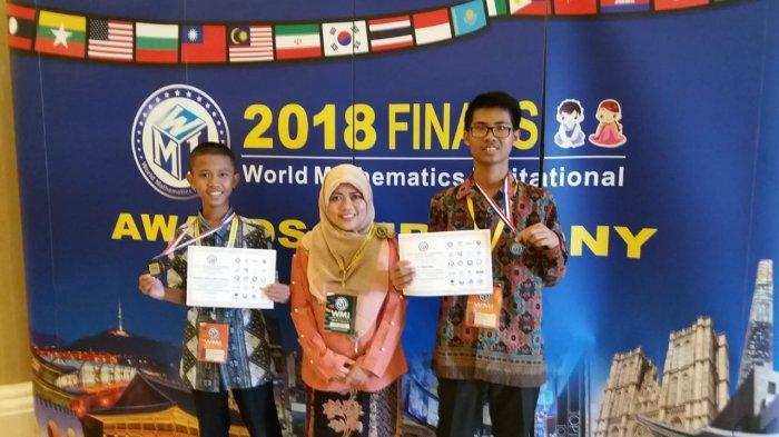 2 Siswa Sumsel Sabet Medali di World Mathematics Invitational Korea Selatan