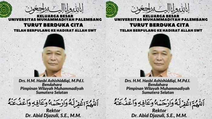 Penyebab Hasbi Asshiddiqie Meninggal Dunia, Bendahara PW Muhammadiyah Sumsel & eks Dosen UIN