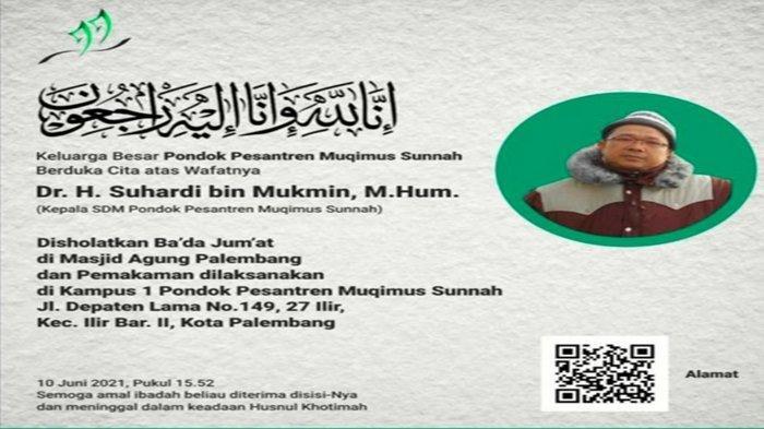 Kabar Duka, Suami Ustadzah Izzah Zen Syukri, Suhardi bin Mukmin Dikabarkan Meninggal Dunia
