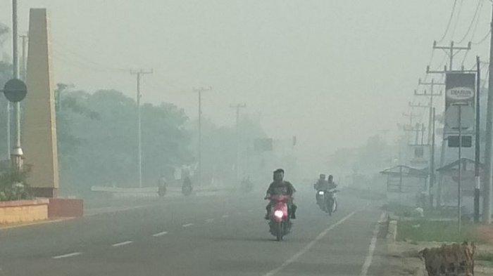 Kabut Asap Tebal Kembali Selimuti Palembang Sore Ini, BMKG Prediksi Berpotensi sampai Besok