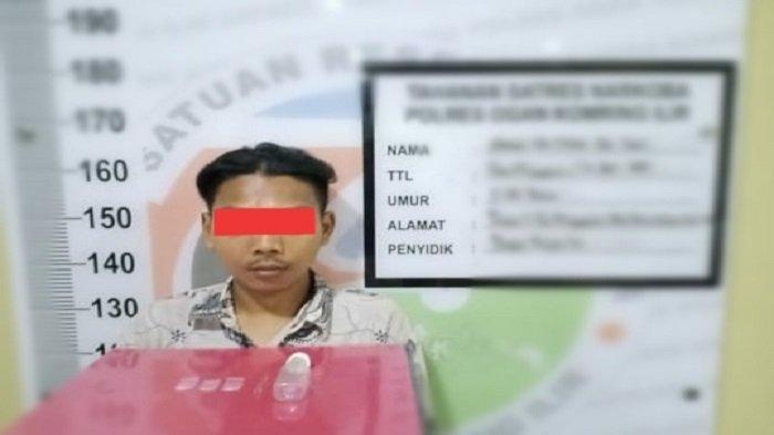Oknum Kepala Dusun Desa Mulya Guna OKI, Diringkus Polisi Saat Mengkonsumsi Sabu