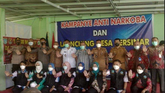 Polsek Pemulutan Kampanyekan Anti Narkoba Launching Desa Bersinar di Desa Pipa Putih Ogan Ilir