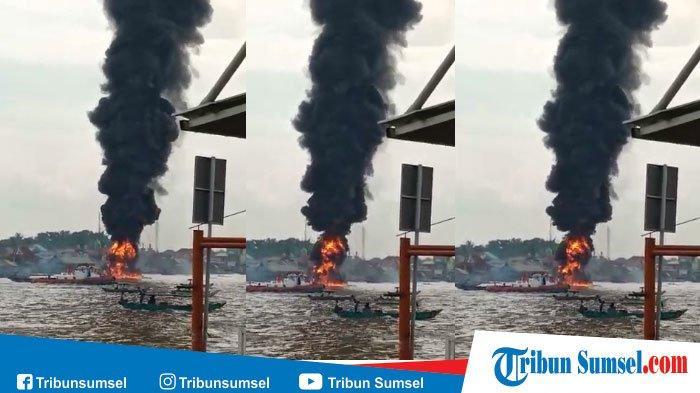 BREAKING NEWS : Jukung MS Safira Terbakar di Sungai Baung OKI, Balita dan ABK Tewas Terbakar