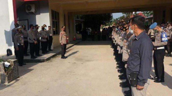 Kapolda Sumsel Pimpin Apel di KPU Ogan Ilir, Minta Penyelesaian Masalah Melalui Jalur Hukum