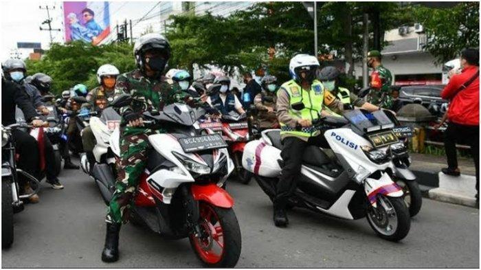 Kapolda Sumsel Bersama Forkompimda Prov Sumsel Konvoi Naik Motor Pantau Natal 2020 di Palembang