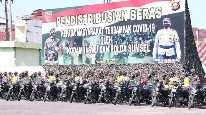 Lepas Bantuan Sosial ke Polres dan Kodim Jajaran, Ini Pesan Kapolda Sumsel dan Pangdam II Sriwijaya