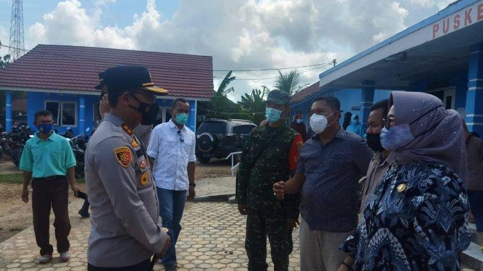 Kapolres Ogan Ilir Tinjau Vaksinasi Massal di Wilkum Polsek Muara Kuang