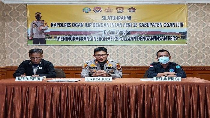 Perkuat Sinergitas, Kapolres Ogan Ilir Jalin Silaturahmi dengan Insan Pers