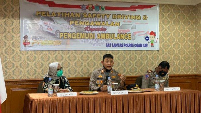 Polres Ogan Ilir Adakan Pelatihan Safety Driving dan Pengawalan kepada Pengemudi Ambulance
