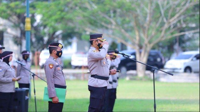 Kapolres Ogan Ilir Pimpin Apel Kebangsaan Tahun 2021