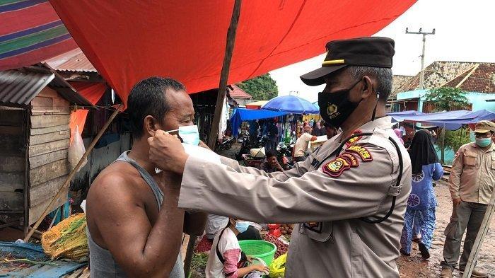 Polsek Pemulutan Laksanakan Operasi Yustisi di Pasar Talang Pangeran Ilir