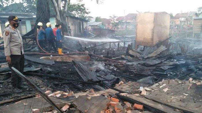 9 Rumah di Ibul Besar Ludes Terbakar, Bermula Anak-anak Bermain Kayu Bakar