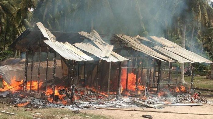 Api Muncul dari Ruang Tengah, Satu Rumah di Lalan MUBA Habis Terbakar Minggu Siang