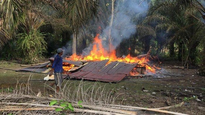 Kebakaran di Lalan Muba Tadi Pagi, Diduga Kompor Meledak Rumah Tasim Tinggal Puing