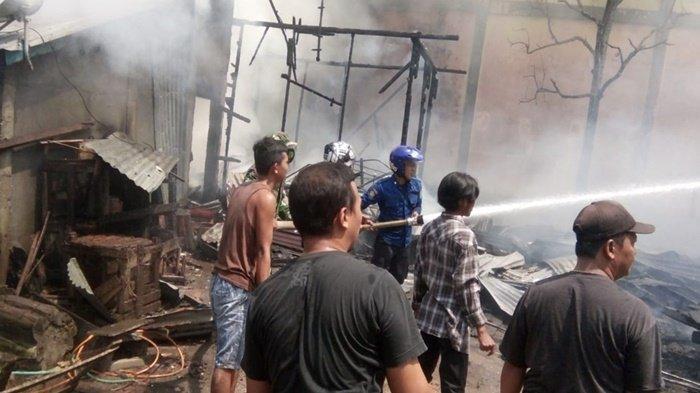Dua Rumah di Sekayu Muba Habis Terbakar Minggu Pagi, Api Diduga dari Pembakaran Sampah