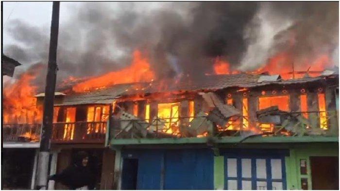 Kebakaran di Sukajadi Baturaja, Ruko Milik 5 BersaudaraTerbakar, Kerugian Lebih Dari Rp 700 Juta