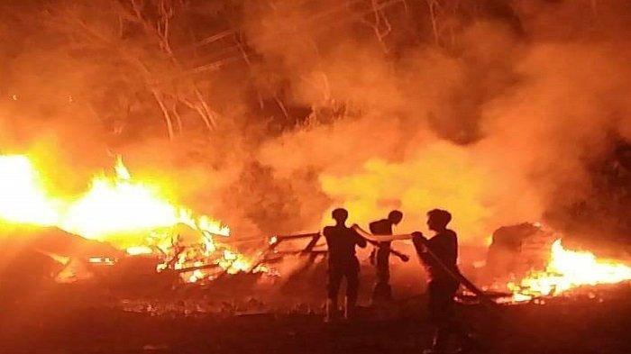 Gudang Mebel di Perumahan Green Garden Lubuklinggau Terbakar Dinihari Tadi