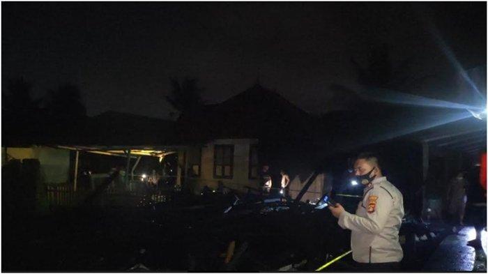 Kebakaran di Jalan Sungai Gerong, Api Lilin Menyambar Gorden Saat Mati Lampu, Rumah Tabrani Terbakar