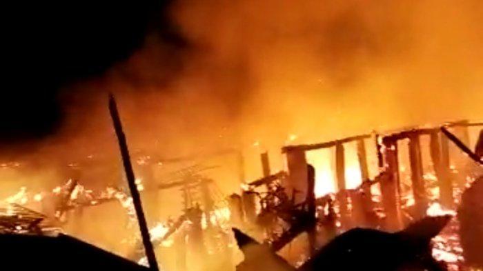 Penyebab dan Daftar Korban Kebakaran 17 Rumah di Desa Tulung Selapan Ilir OKI