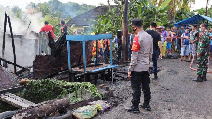 Dramatis Kebakaran di Muaraenim,Dari Meteran Linstrik Menyambar Bensin Eceran