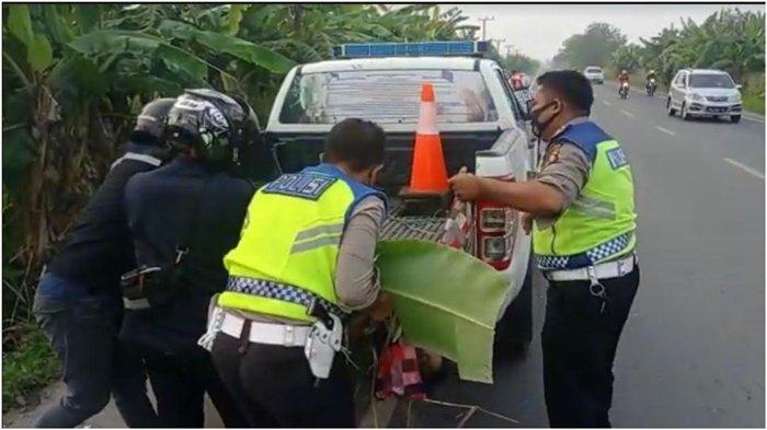Kecelakaan Beruntun di Jalan Lintas Palembang-Indralaya Pagi Tadi, Seorang Pengendara Motor Tewas