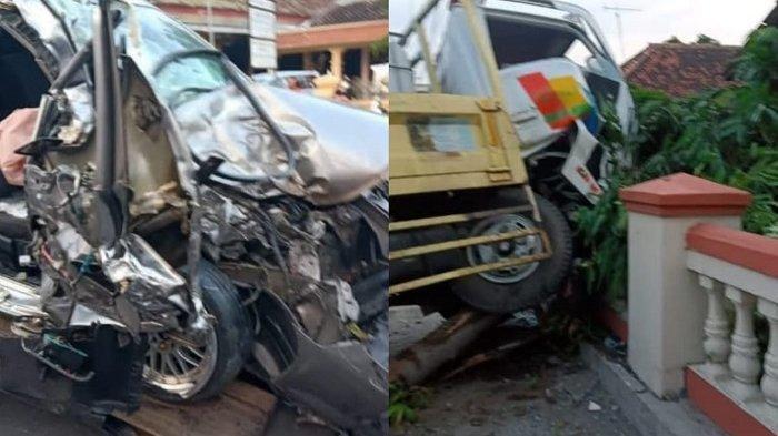 Truk Terbang Tabrak Pagar Sd Mobil Sedan Hancur Kecelakaan Maut Di Wonogiri Satu Orang Tewas Tribun Sumsel