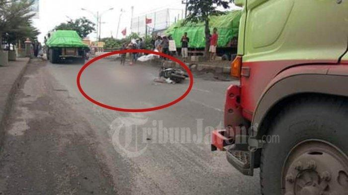 Kecelakaan Maut Kemarin Siang, Motor Pasutri Dihantam Truk yang Melaju, Dua Orang Tewas