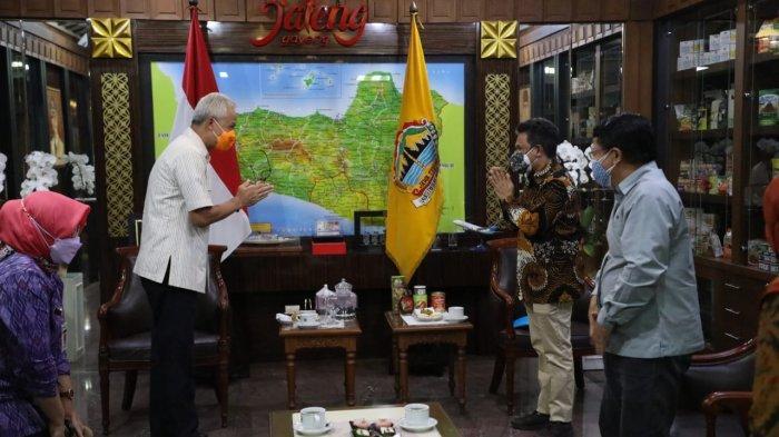 Kepala Perwakilan Unicef Indonesia di Surabaya, Ermi Ndoen usai bertemu dengan Gubernur Jateng Ganjar Pranowo di kantornya, Selasa (28/9/2021).