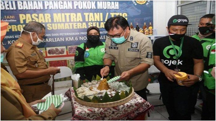 Gandeng Gojek Palembang, Pemprov Sumsel Sediakan Sembako Harga Murah Berkulitas dan Gratis Ongkir