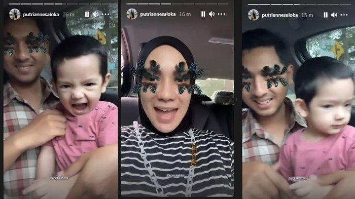 Tiru Kebiasaan Arya Saloka Menyetir, Putri Anne Pasrah Lihat Ekspresi Ibrahim Pegang Setir Mobil