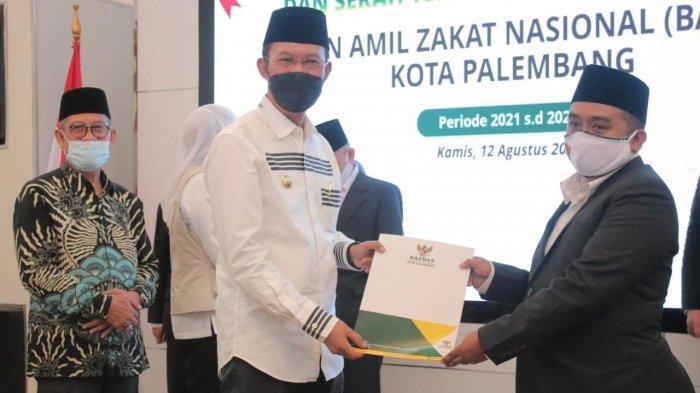 Ridwan Gantikan Saim Marhadan, Walikota Palembang Lantik Ketua Baznas Baru