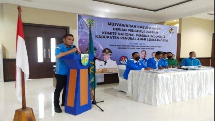Ferdinan Jabat Ketua KNPI PALI Gantikan Anasrul, Terpilih Secara Aklamasi, Ini Program Kerjanya