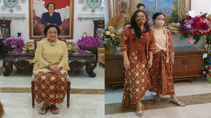 Dihari Raya Idul Fitri Mantan Presiden Megawati Soekarno Putri Kenakan Gambo Muba
