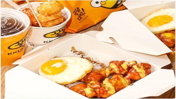 Kkuldak makanan khas Korea.