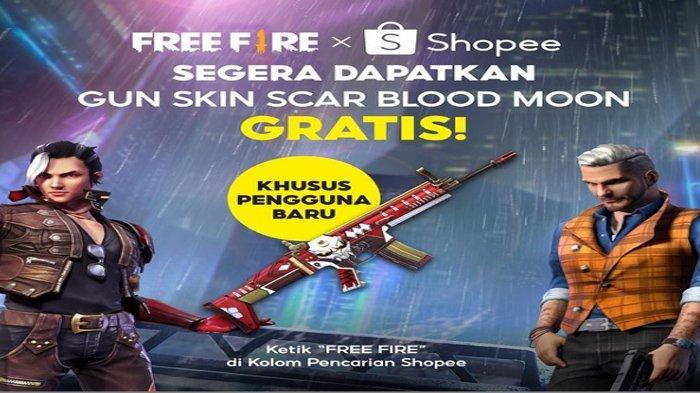 Klaim Sekarang Gunskin Scar Blood Moon, Gratis, di Shopee Khusus Pengguna Baru, Ini Caranya